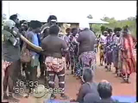 Traditional Aboriginal dance Mamurrung ceremony from Goulburn Island, Arnhem Land, 1996