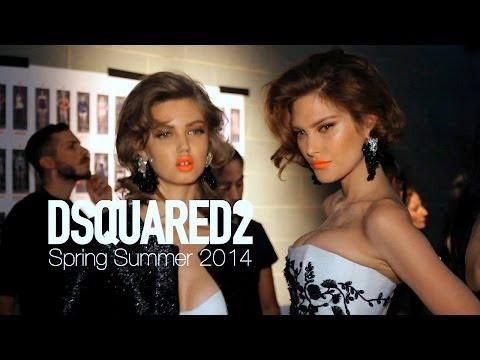 DSQUARED2 Spring 2014 Backstage ft Lindsey Wixson, Catherine McNeil   MODTV