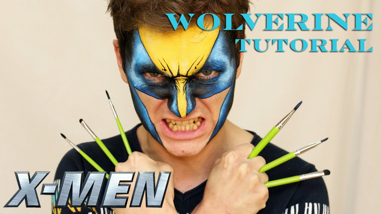 Wolverine X Men Makeup amp Face Painting Tutorial For Boys YouTube