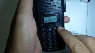 ว ธ ร เซทเคร อง icom v82