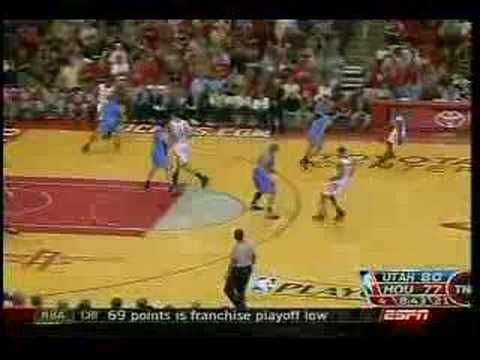 Recap - Utah Jazz @ Houston Rockets - 2007 NBA playoffs