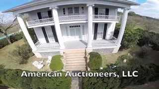 Historic Margaretta Hall Mansion, Circa 1840 Aerial Tour