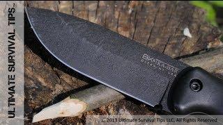 Ka-bar Becker Bk2 Survival / Bushcraft Knife - Review - Nearly Indestructible Tank Of A Knife