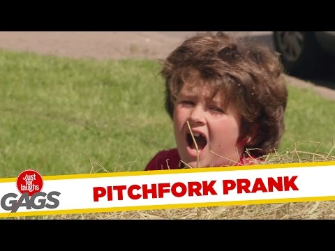 Kid Gets Stabbed by a Pitchfork