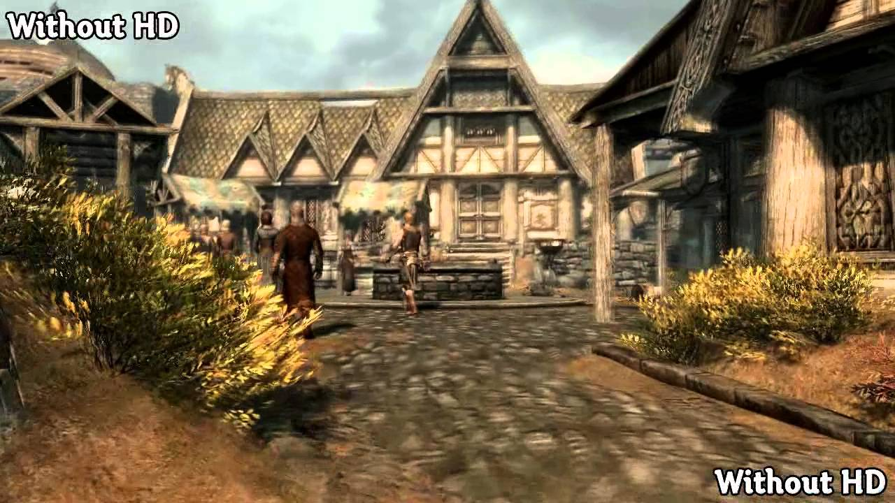 Skyrim Mod Spotlight: High Resolution Texture Pack Before and After - YouTube