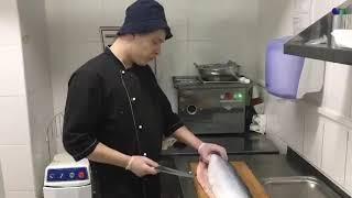 Урок разделки рыбы лосось