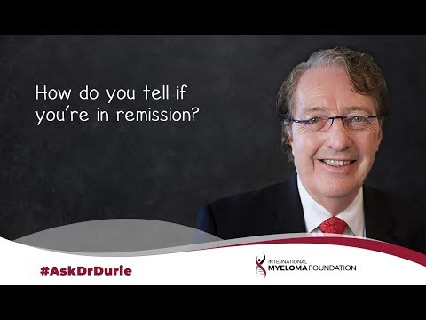 How do you tell if you're in remission?