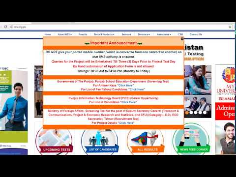 NTS list of candidate for refund of fee | Digitalized Solutions