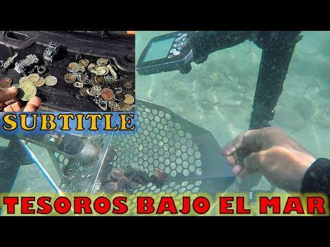 Encuentro monedas antiguas bajo el mar! Subtitle Treasure hunting underwater