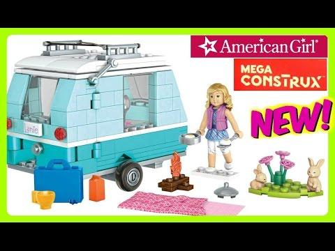 American Girl Mega Bloks Lanie's Camping Trip!  LIKE LEGOS!  NEW 2016 American Girl Mega Construx