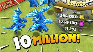 Download Over 10 Million Loot in 3 Attacks (Clash of Clans)