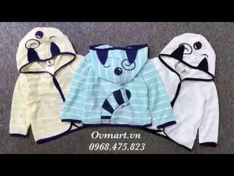 Áo Chống Nắng Mèo Dễ Thương - AK196 - Quần áo trẻ em