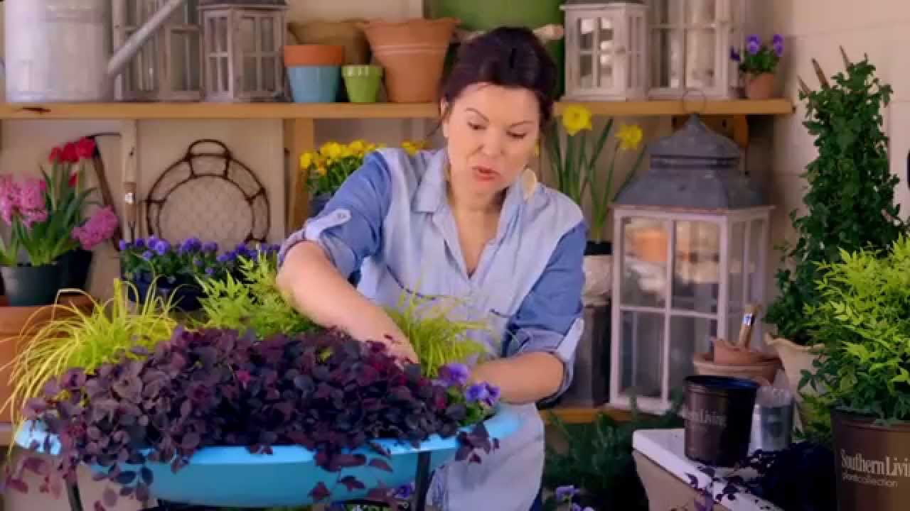 Fire Pit Container Garden - YouTube