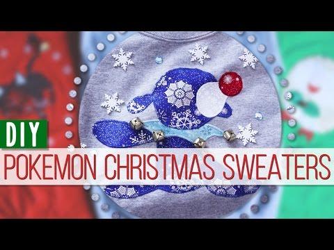 DIY Pokemon Christmas Sweaters! || MangoSirene