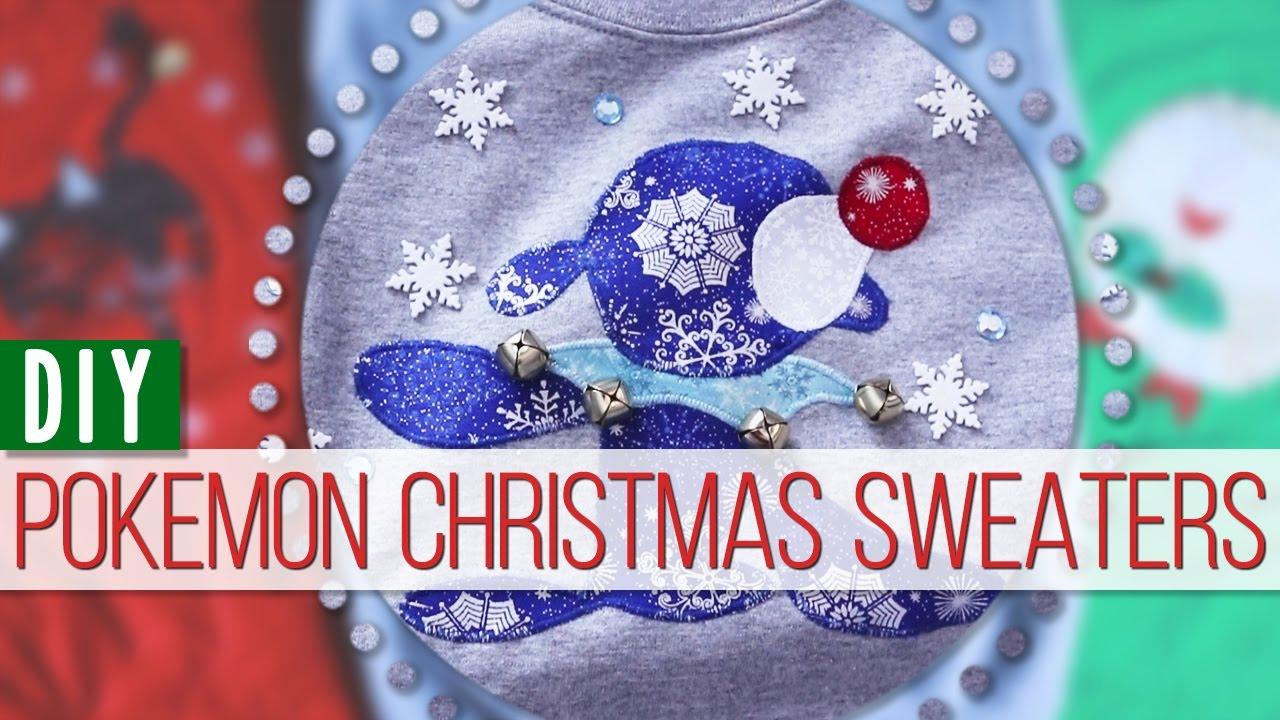 Pokemon Christmas Sweater.Diy Pokemon Christmas Sweaters Mangosirene