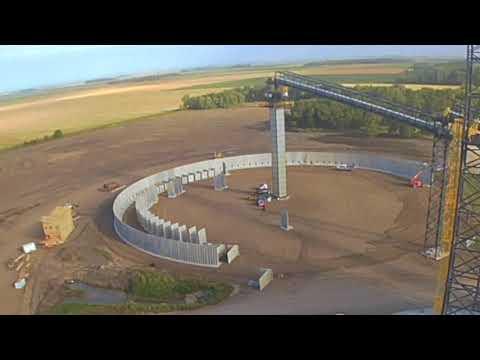 16' Round Hanson Grain Bunker