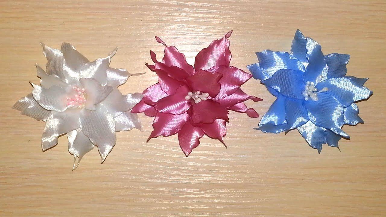 Как сделать из лент лилию фото 360