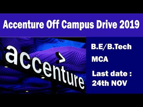 Accenture Off Campus Drive 2019 B E,B Tech,MCA Freshers last date 24 th NOV - across india