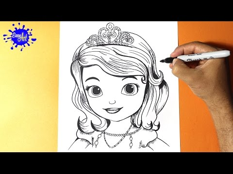 Como Dibujar La Princesita Sofia Disney How To Draw The Princess Sofia The First Easy Art