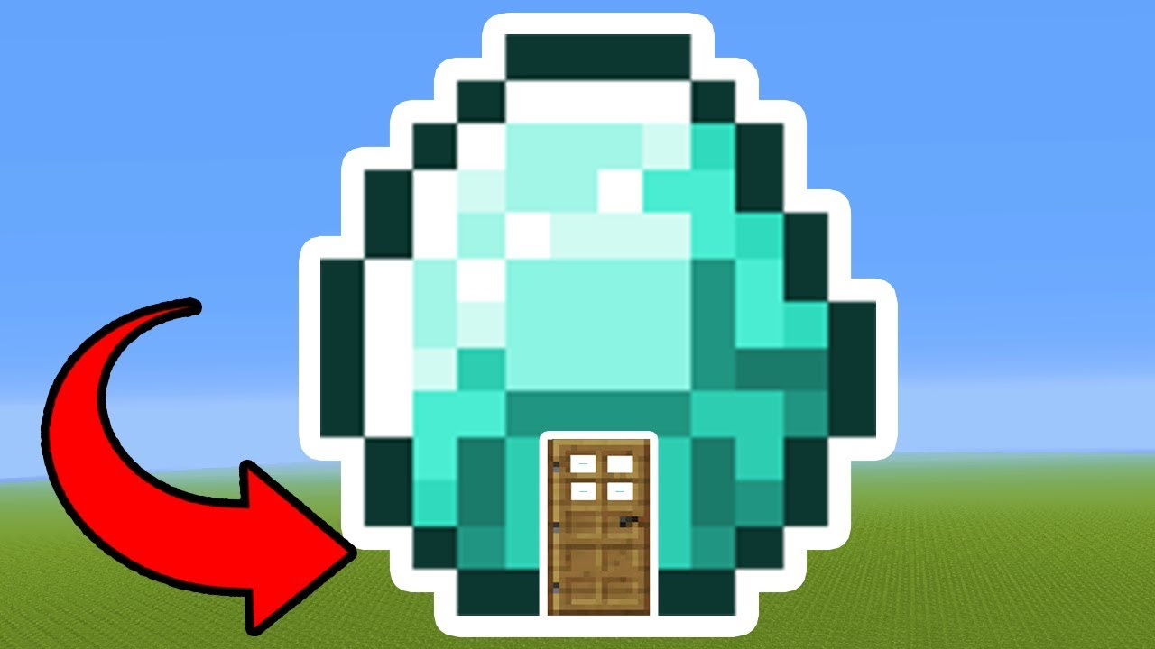 minecraft tutorial: how to make a diamond house - youtube