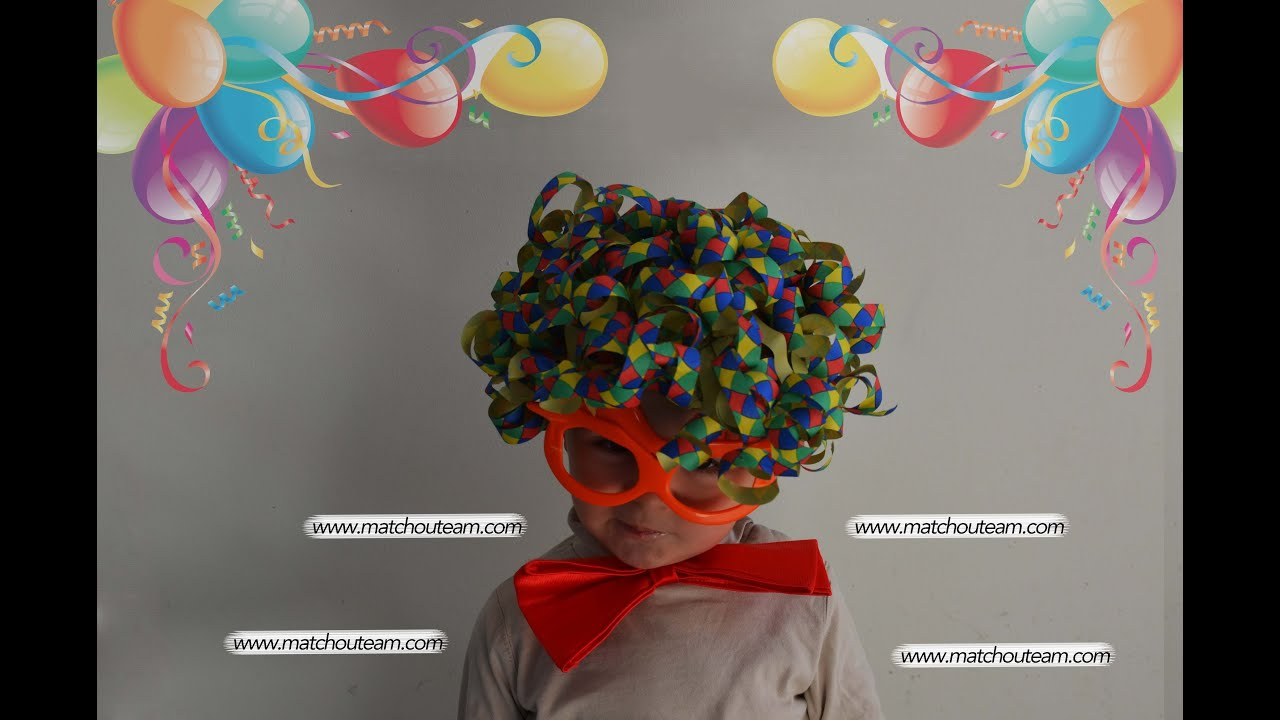 Carnaval fabriquer sa perruque de clown youtube - Fabriquer sa penderie ...
