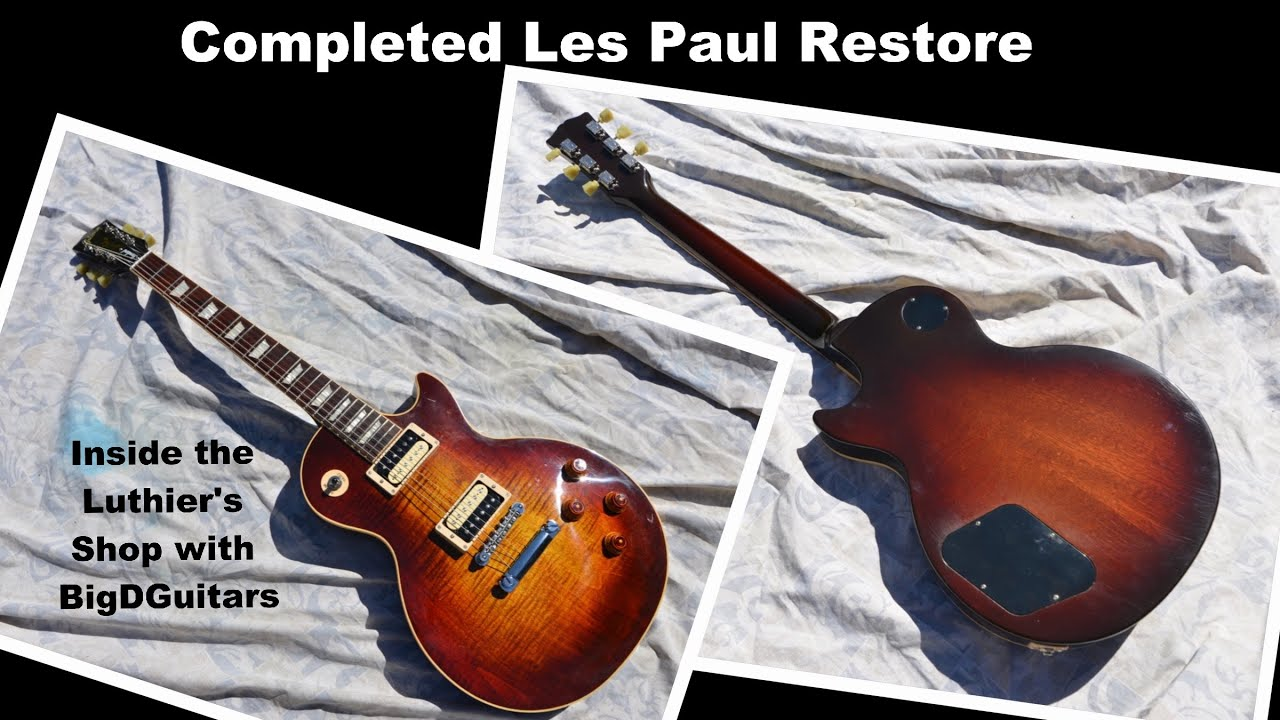 35bc3ff22dd Completed Gibson Les Paul Restore Project - Final Assembly and Pics -  BigDGuitars