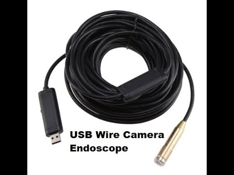 waterproof snake inspection usb wire 4 led camera endoscope review  instructions and unboxing