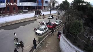 Nepal Earthquake CCTV footage of Dharahara, Sundhara EXCLUSIVE Full HD
