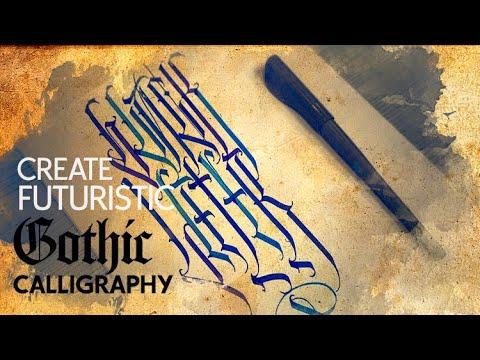 1. Make Futuristic Gothic Calligraphy - Thumbs [Русские Субтитры]