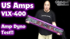 Most Powerful Old School Amp - US Amps VLX-400 Amp Dyno Test 1 Ohm UltraHD
