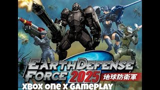 Earth Defense Force 2025 - Xbox One X Backwards Compatible Gameplay (1080p)