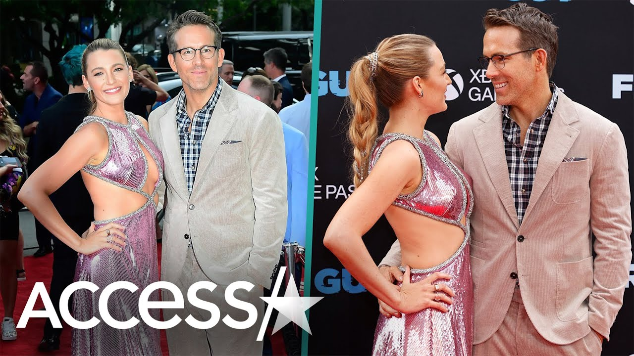 """Blake Lively Lively Embraces Ryan Reynolds And Looks Majorly Loved Up At""""""""Free Guy"""""""" Premiere"""