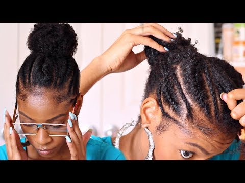 cornrows-into-a-bun-on-natural-hair►-natural-hairstyles