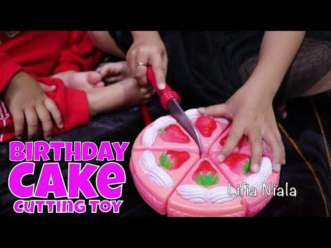 Children Toy Cut Birthday Cake - Toy Cutting Velcro Birthday Cake Plastic for kids