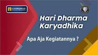 Rangkaian Hari Dharma Karyadhika Tahun 2019