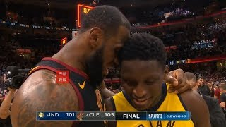 LeBron James Gives His Best Respect To Victor Oladipo After Winning Game 7!