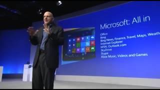 Steve Ballmer presenterar Windows 8