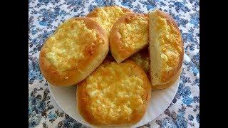 Дрожжевое тесто. Ватрушки с сыром и яйцом
