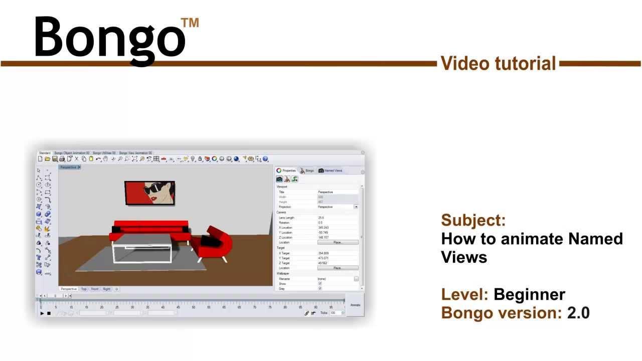 Bongo 2 - How to animate Named Views