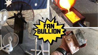 Trash To Treasure - Bullion From Busted Fans - Strip & 5 Melts Copper & Aluminium
