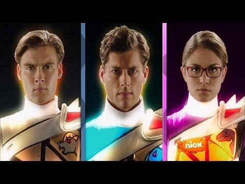 Power Rangers Dino Super Charge - Graphite, Aqua, and Purple Rangers Morph