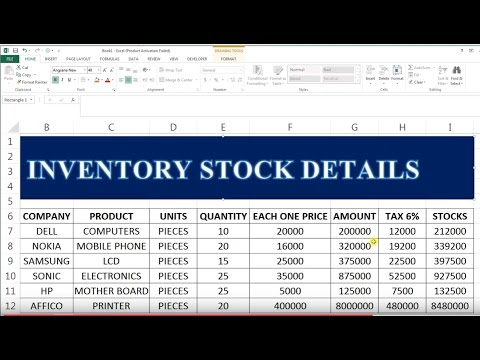 How to maintain your stock in exce   Stock Maintain In Excel  # 35