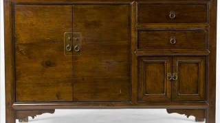 Asian Antique Buffet Cabinet _an1008y.wmv