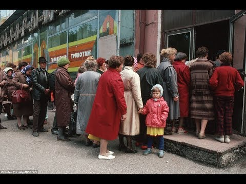 Image result for people waiting on line in the soviet union for groceries  you tube