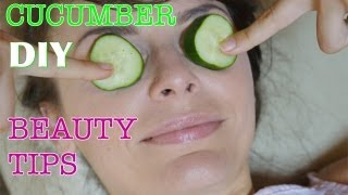 DIY Cucumber Beauty TIPS: Puffy Eyes Remedy / Whitening Mask for Acne Scars / Refreshing Scrub Thumbnail