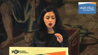 Opening of the IAGR Oslo 2013 - The Norwegian Minister of Culture, Hadia Tajik