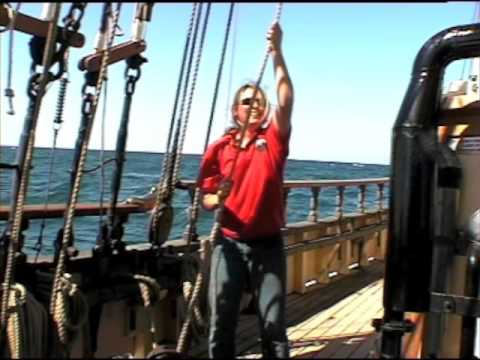 Alma Doepel on the high seas Youth Sail Training