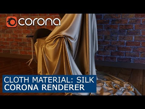 Cloth material: Silk - Corona Renderer  | 3Ds Max | Tutorial