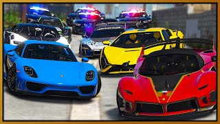 GTA 5 Roleplay - expensive hypercar gang annoying cops  | RedlineRP