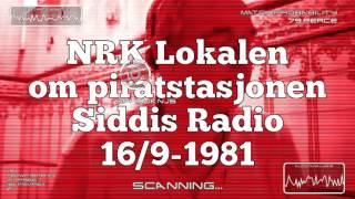 NRK Rogaland og piratstasjonen Siddis Radio 16/9-1981